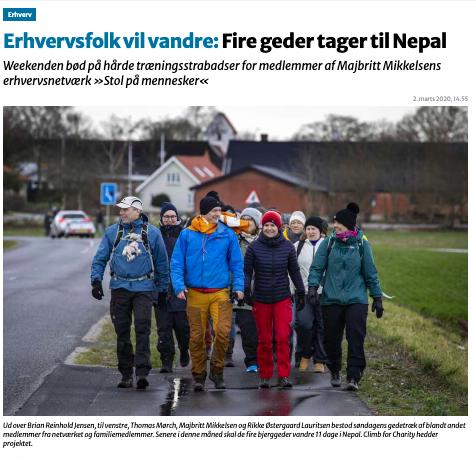 Da fire bjerggeder fra Stol På Mennesker drog til Nepal